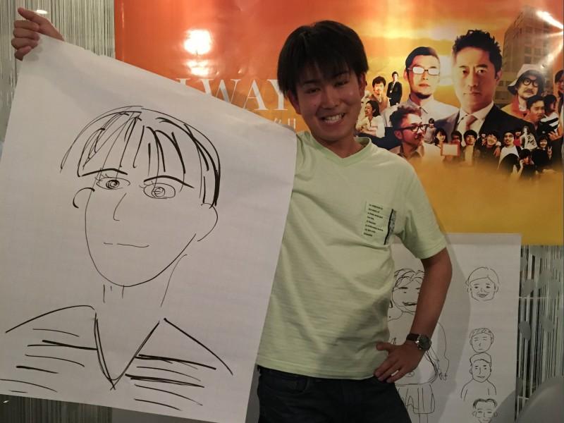 ▲最も似ていると言われた、2年目の島野さんの似顔絵。本当にそっくり。